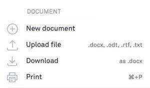 Grammarly - Upload-document